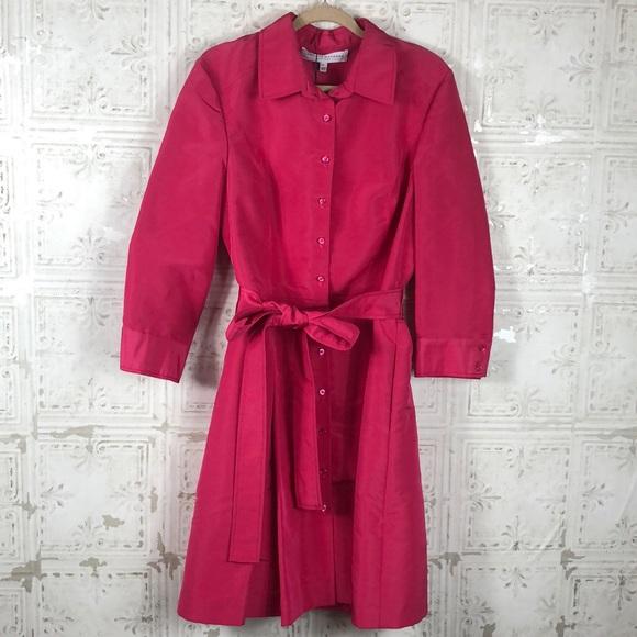 Carolina Herrera Dresses & Skirts - Carolina Herrera | NWTBright Pink Silk Shirt Dress